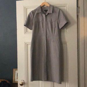 Heather grey JCrew dress, sz 8.